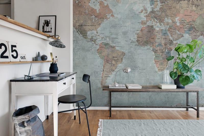 Tapeta z mapą całego świata