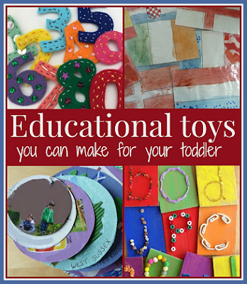 Educational toys and games you can make for your toddler