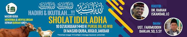 Contoh Spanduk Sholat Idul Adha 1440 H