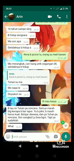 screen shot chat wa ayah perkosa anak kandung di kupang