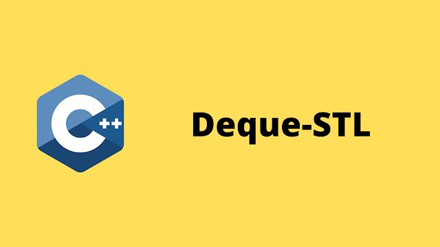 HackerRank Deque-STL solution in c++ programming