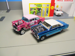 hot wheels red line club super nova and chevy bel air gasser