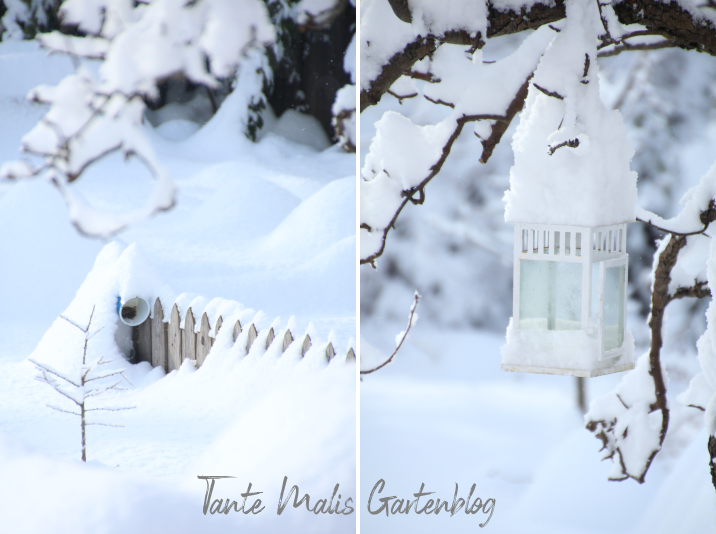 Garten mit Schnee