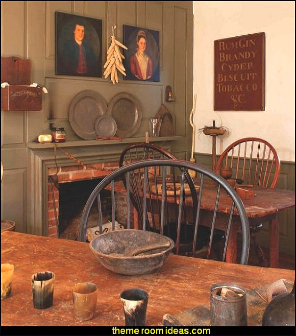 early american colonial decorating rustic farmhouse primitive americana