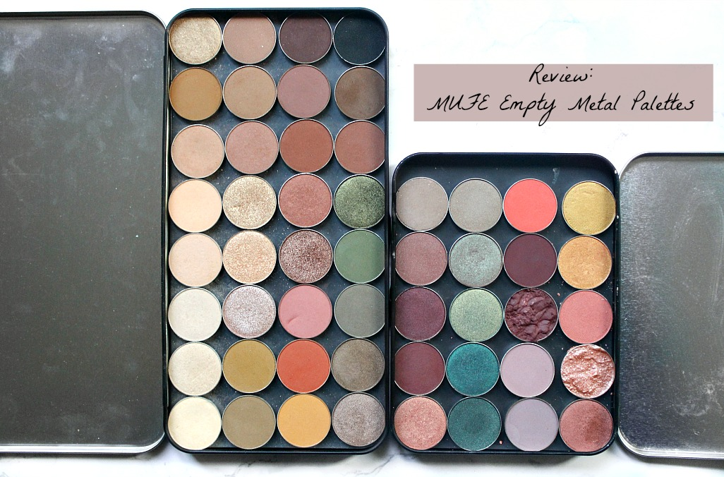 Review Mufe Empty Metal Palettes In Medium And Large The