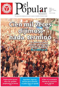 Portada de El Popular 140. 27/5/2011.
