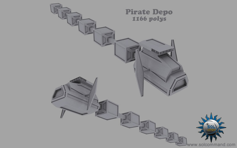 pirate depo 3d model storage installation equipment supplies raiders smuggler space station base free download solcommand