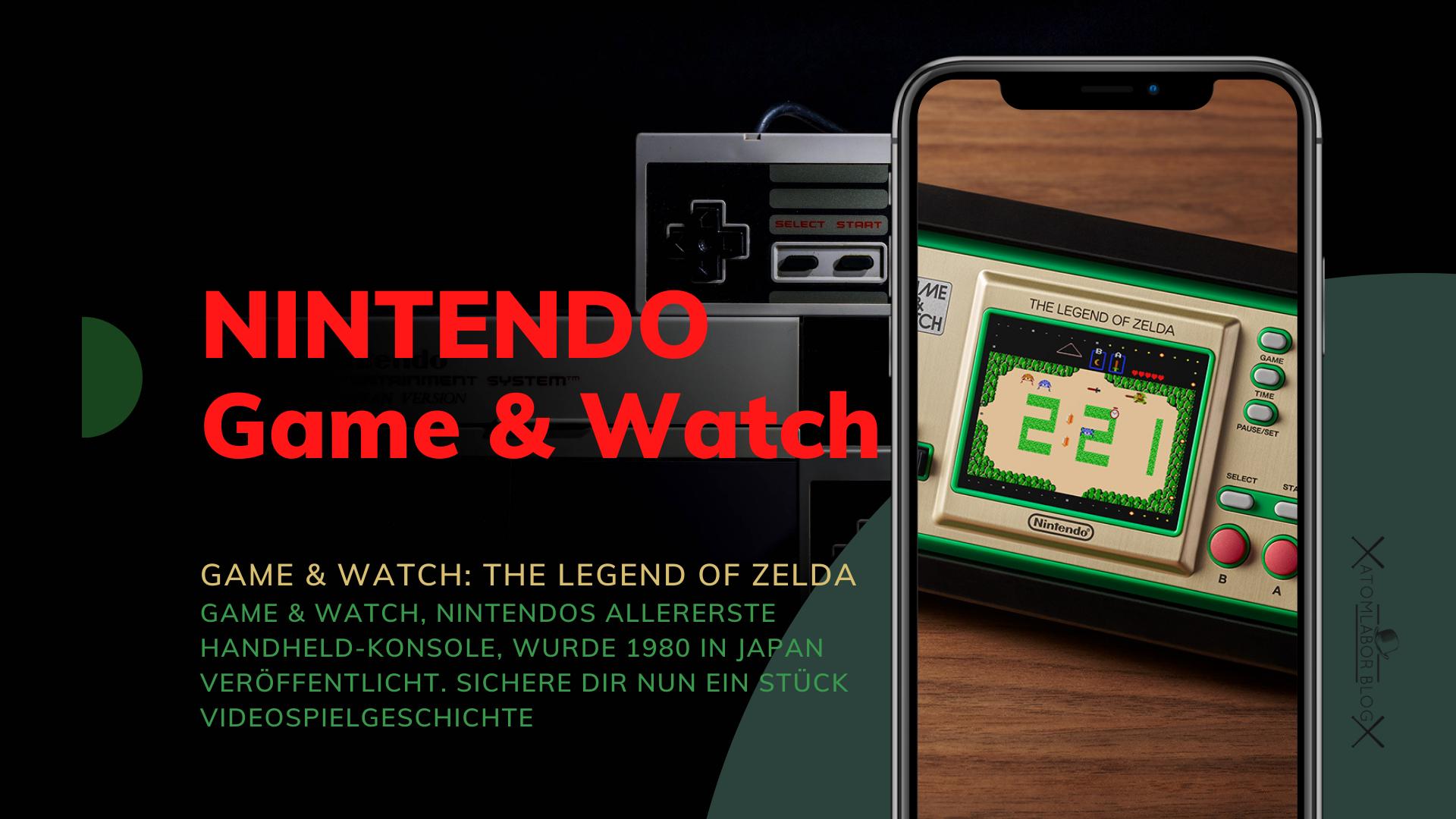 Nintendo präsentiert uns Zelda als Game & Watch   Handheld und Uhr mit The Legend of Zelda