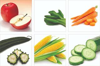 sayur dan buah kenari