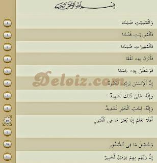 surat Al-'Aadiyat