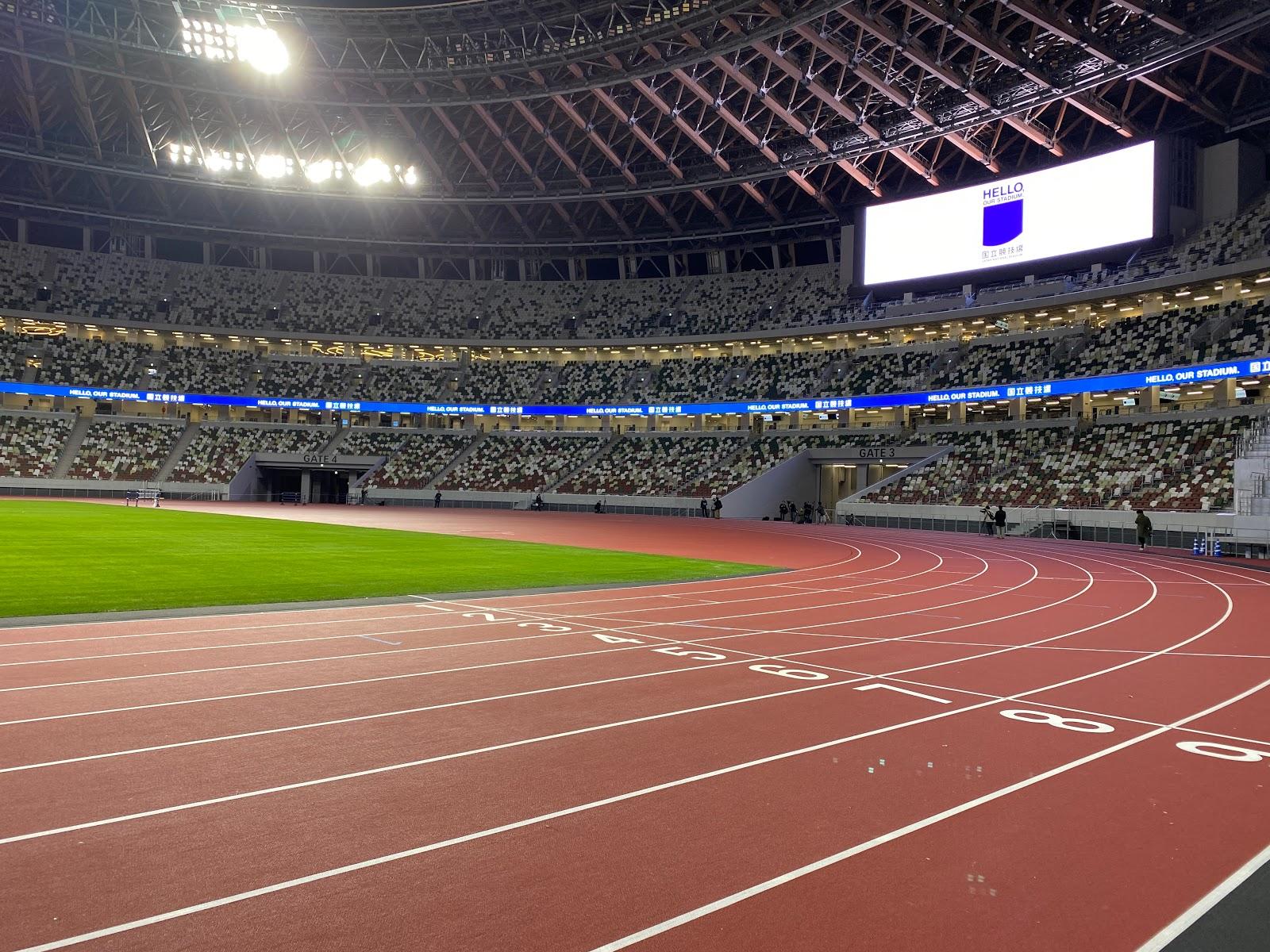 混沌の屋形風呂: 國立競技場のメディア向け公開の日