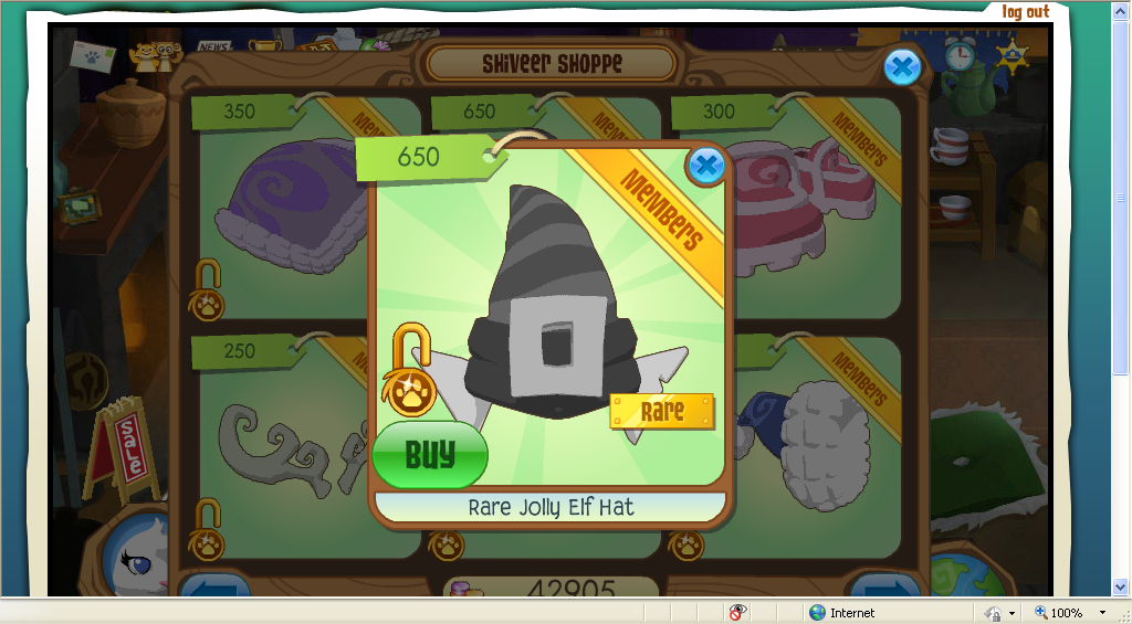 Desk And Chair Animal Jam Cheap Dining Room Table Sets Tides: Rare Elf Hat