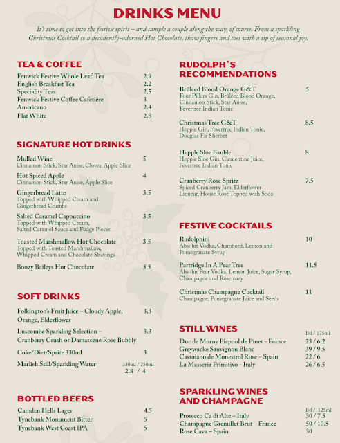 Rudolph's Restaurant Fenwick : Drinks Menu