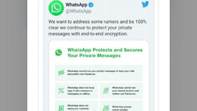 WhatsApp Klarifikasi Soal Isu Kerawanan Data Pasca Pembaruan Kebijakan Privasi