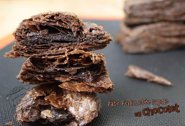 recette pate feuilletée facile et rapide chocolat