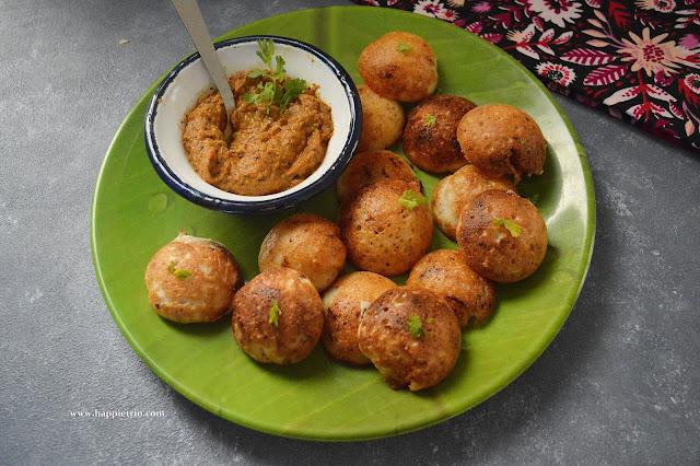 Chettinad Khara Kuzhi Paniyaram Recipe | Kuzhi Paniyaram