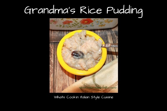 Rice in a creamy custard with cinnamon and raisins old fashioned stove top rice pudding grandma's recipe in a corning ware vintage glass dessert dishes or casserole dish
