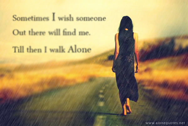 Sad alone girl in love with quotes wallpapers - Love ...