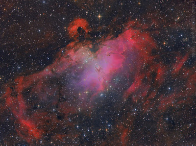 Messier 16, the Eagle Nebula imaged by Utkarsh Mishra and Zhuoqun Wu.