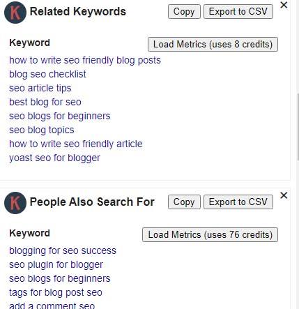 blog post seo keyword optimization