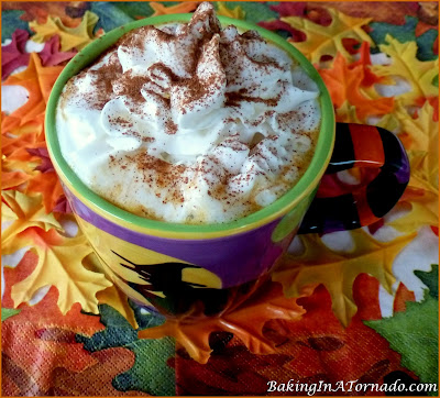 Pumpkin Pie Hot Apple Cider: with or without alcohol, this hot drink is sure to warm you up on a cool Fall day. | Recipe developed by www.BakingInATornado.com | #recipe #drink