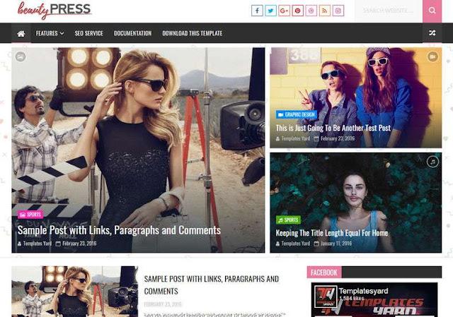 Beauty Press Blogger Theme