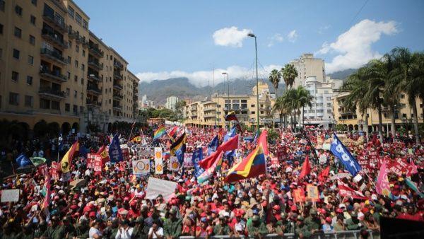Venezolanos marchan este jueves en contra del imperialismo
