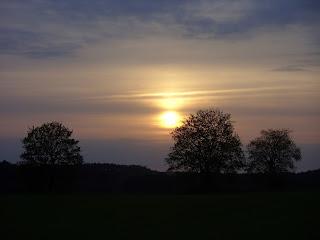 Kamionna zachód słońca