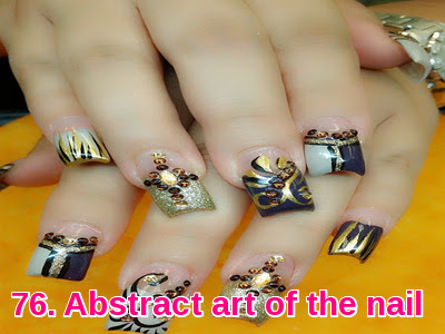 Abstract art of the nail