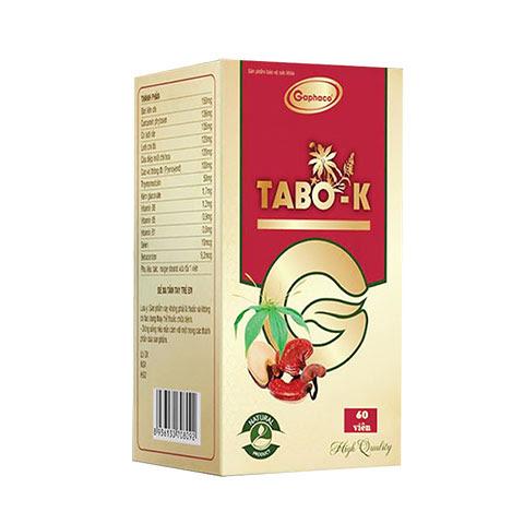 Tabo K, hỗ trợ chống các gốc tự do, thanh nhiệt và giải độc