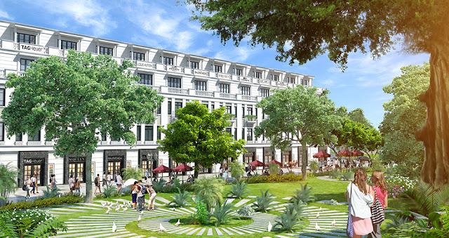 Khuôn viên dự án Hồng Hà Tower