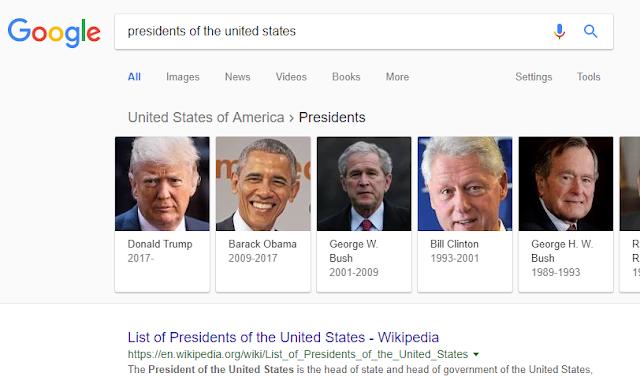 Danh sách các đời tổng thống Mỹ