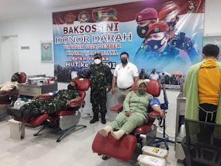Bantu ketersediaan darah di PMI Jember, Prajurit TNI gelar  Donor Darah