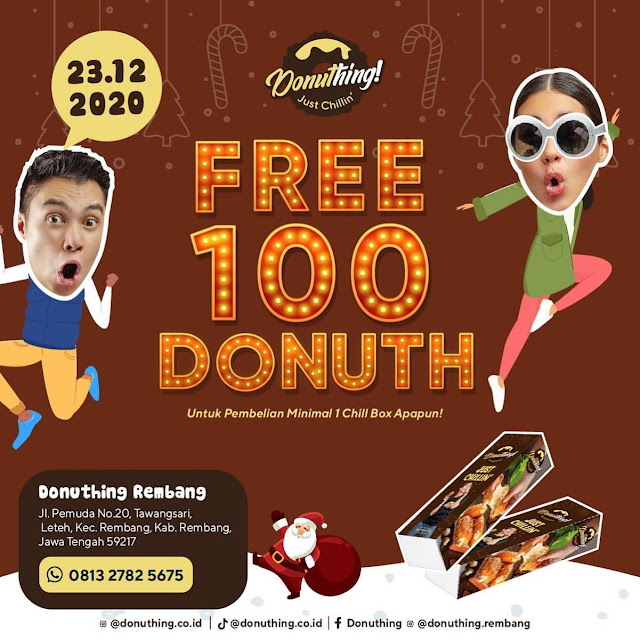 Free 100 Donuth Grand Opening Donuthing Rembang