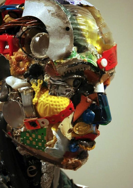 Turn Electronic Waste Into Incredible Sculptures, Junk art, recycled art, Turning Deadly E-waste Into Beautiful sculptures, e-Waste Art