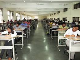 A scene in the examination hall.