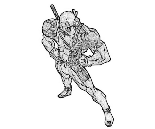 Deadpool Marvel 16 Coloring Pages Printable: Kingdom Hearts Coloring Pages Online