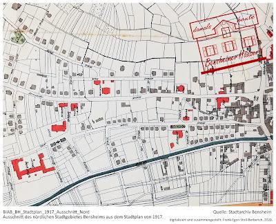 Stadtplan von 1917, Stadtarchiv Bensheim