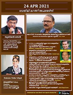 Daily Malayalam Current Affairs 24 Apr 2021