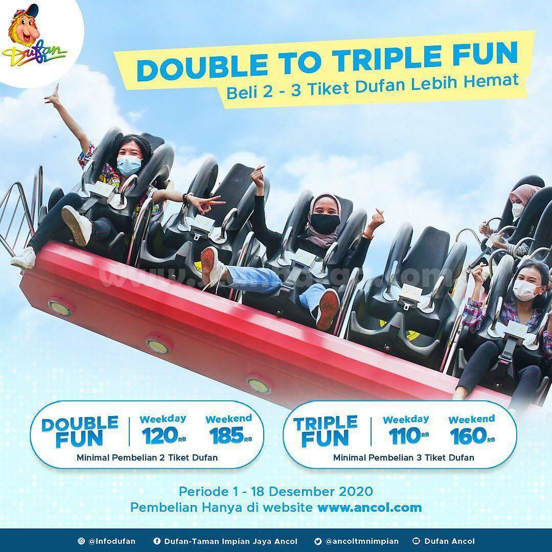 Dufan Promo Double To Triple Fun harga spesial mulai Rp 110.000 per orang