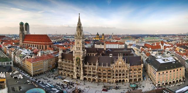 Viagem de trem de Amsterdã à Munique