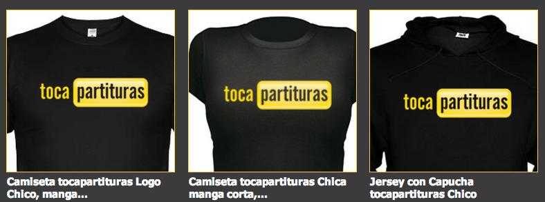 Camisetas Musicales tocapartituras.com www.camisetasmusicales.com