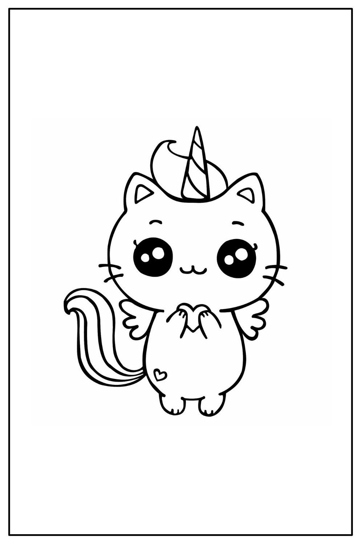 Download Wallpaper Coloriage chat licorne