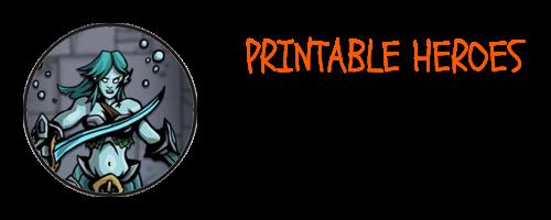 Printable Heroes is Creating Print & Play Miniatures