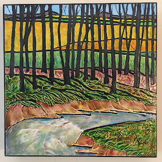 copyright, Robin Baratta, Spring Runoff, 12x12