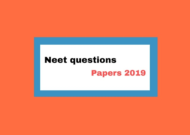 Neet question paper 2019 in hindi