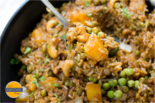easy, flavorful, and healthy pineapple fried rice recipe