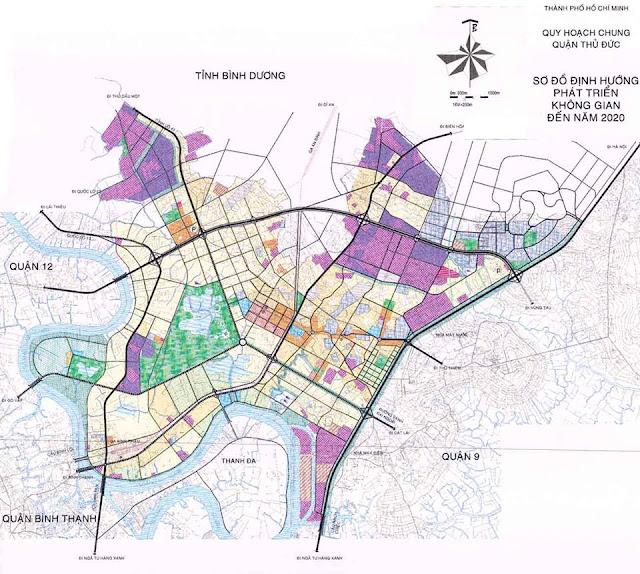 bản đồ quy hoạch quận Thủ Đức