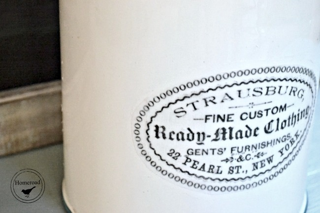 label on metal canister