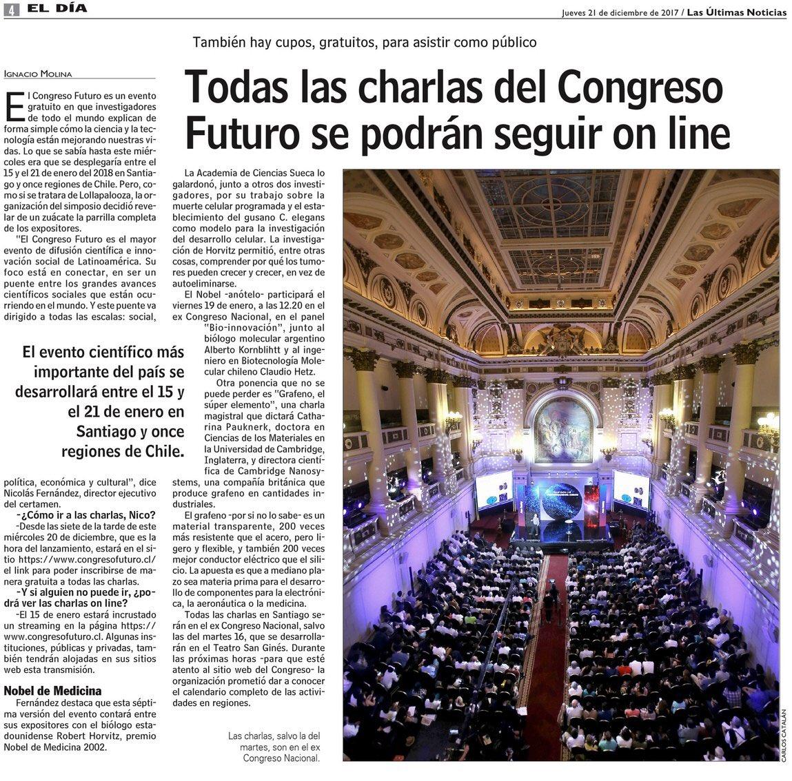 CongresoFuturo2018 Congreso Futuro 15-21 Enero 2018. Chile ...